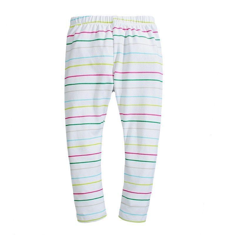 Striped patterned leggings