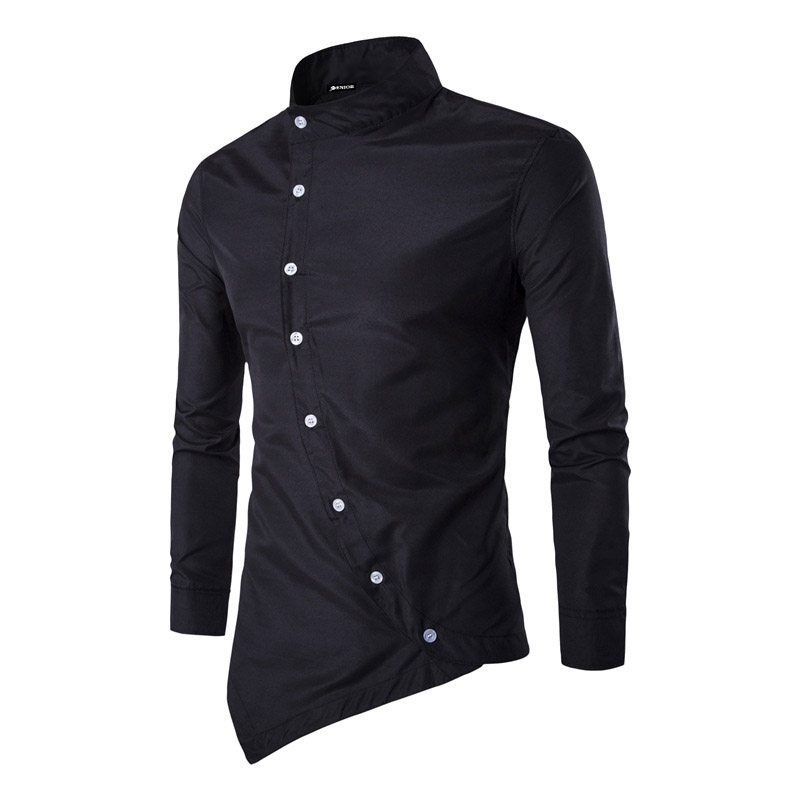 Unique buttoned long sleeved shirt