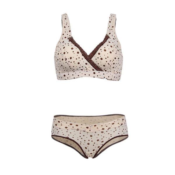 Perfect beige & cream maternity bra & knicker set