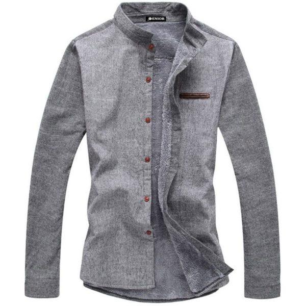 Suave front pocket long sleeved shirt
