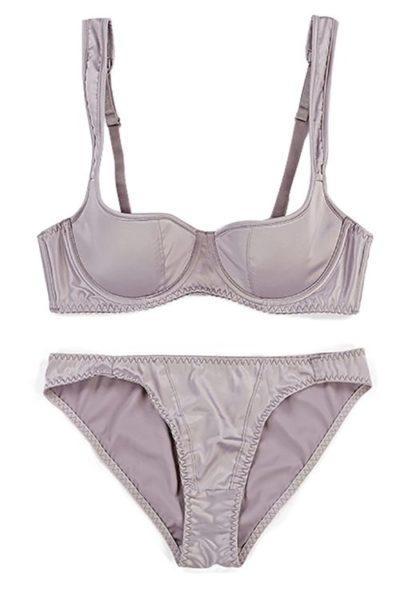 The go to grey bra & knicker set