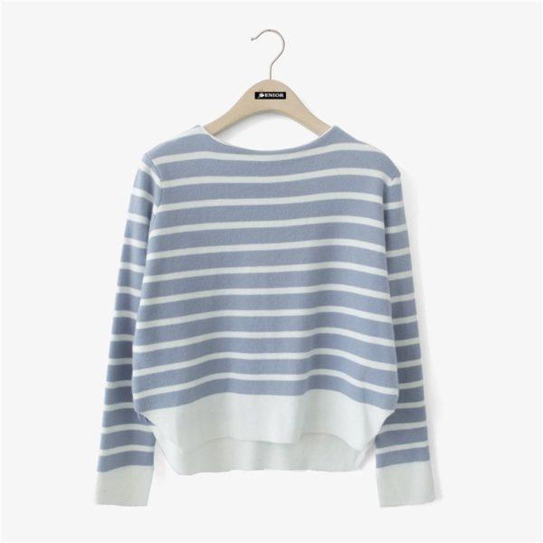 Vertical striped jumper