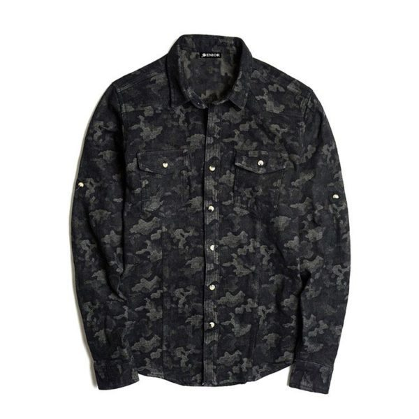 Suave floral print long sleeved shirt