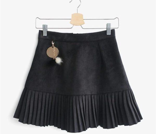 Unique pleated skirt