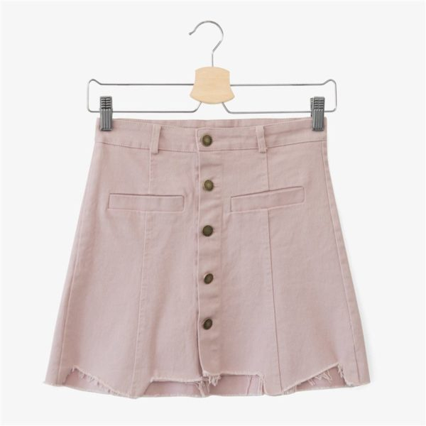 Vintage buttoned ripped skirt