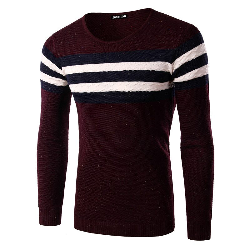 Casual chest striped sweater