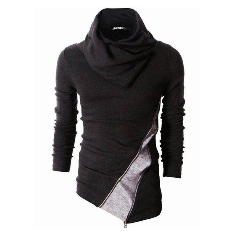 Unique designed scarved sweater