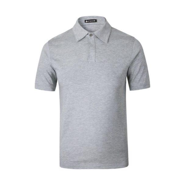 Crisp white polo shirt
