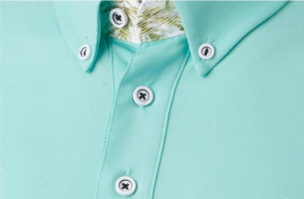 Pastel coloured polo golf shirt