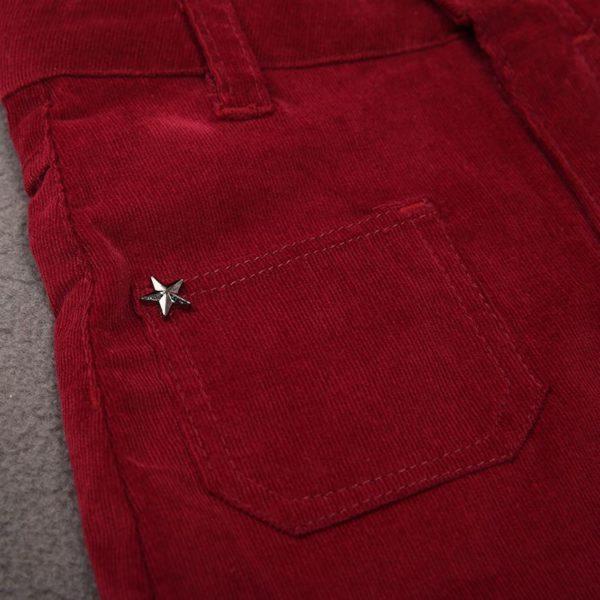 Cute red mini skirt