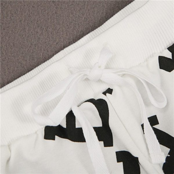 Fashionable lettered trackie bottoms