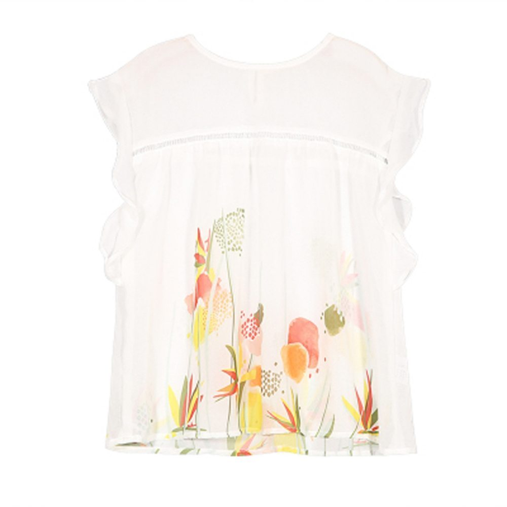 Floaty floral themed top