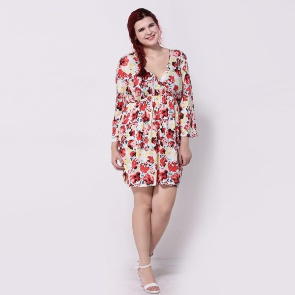 Beautiful floral long sleeved dress