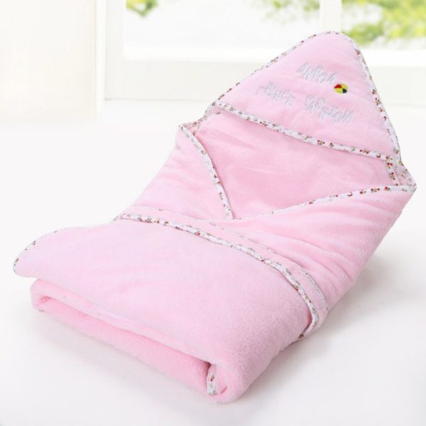 Patterned pink blanket