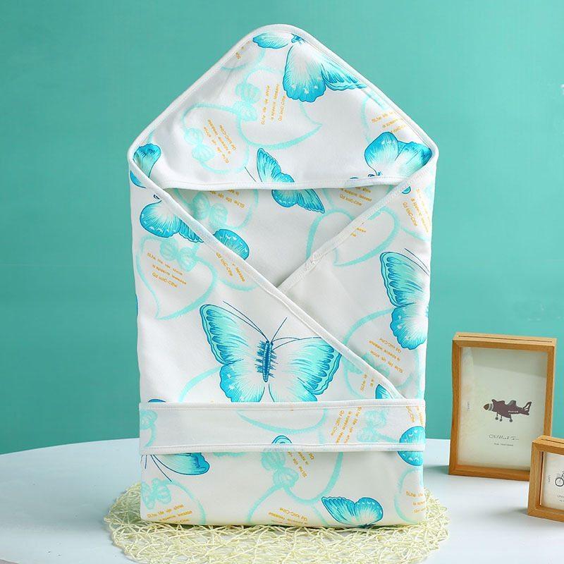 Blue butterfly patterned blanket