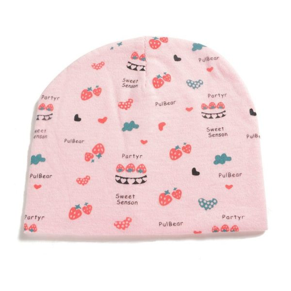 Pretty patterned baby girl hat