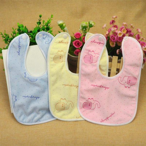 Pastel coloured bibs set