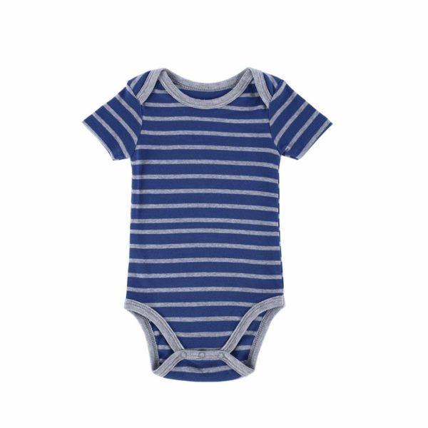 Dark striped babygrow