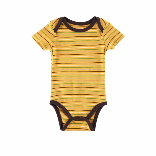 Bold striped babygrow