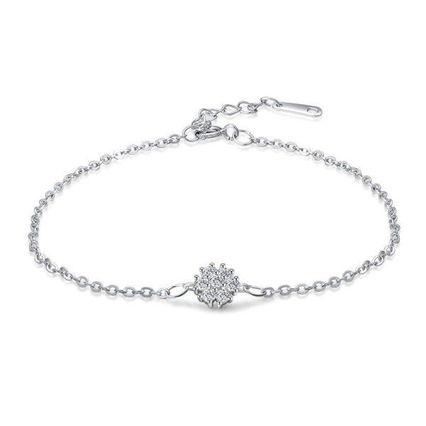 Superb elegant silver bracelet