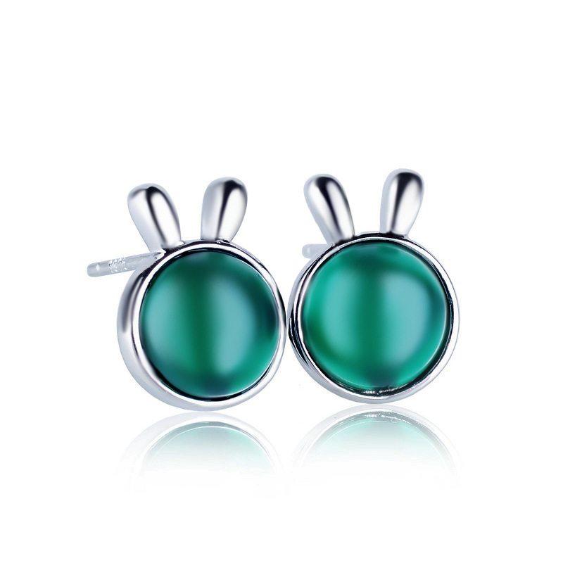 Bunny earred silver earrings