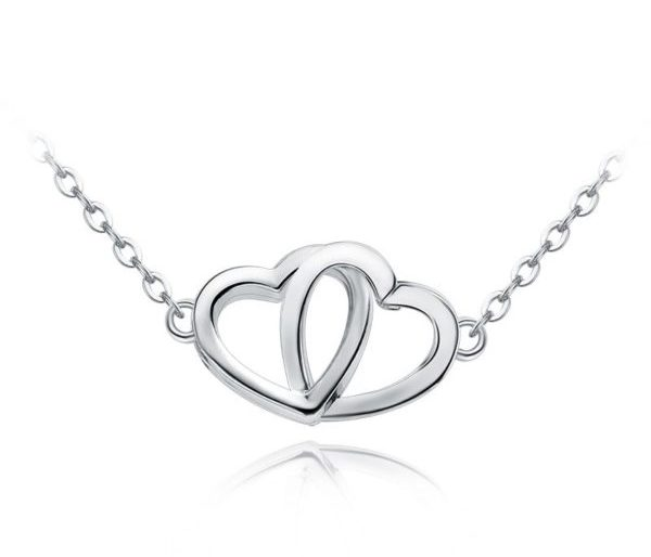 Duo sweetheart chain necklace