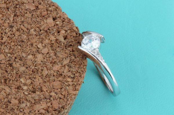Sheer elegant engagement ring