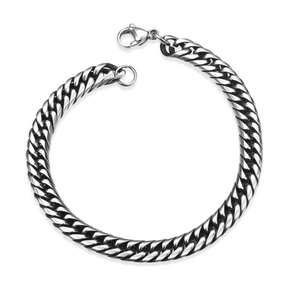 Subtle chain effect stainless steel bracelet