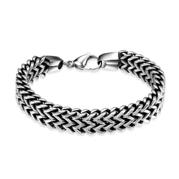 Thick stainless steel bracelet