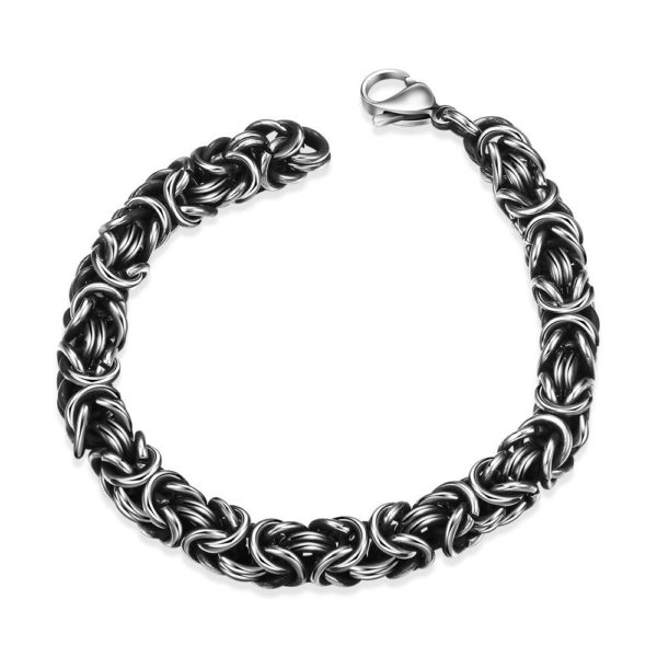 On point stainless steel bracelet