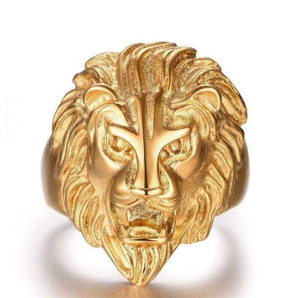 9ct Gold lion ring