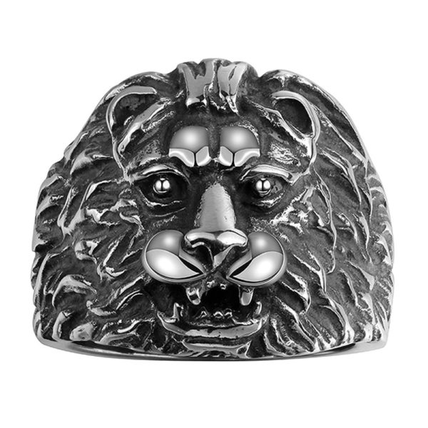 Lion stainless steel ring