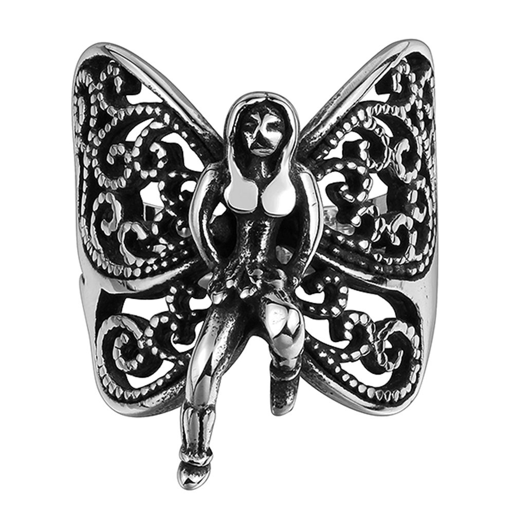 Angel stainless steel ring