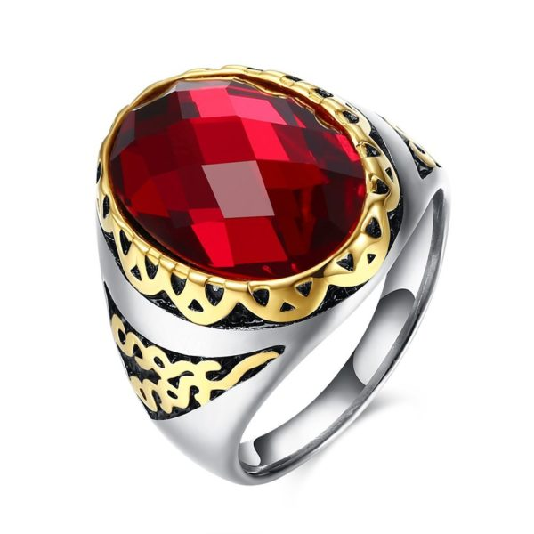 Egyptian ruby ring