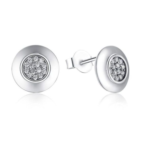 Classy circle earrings