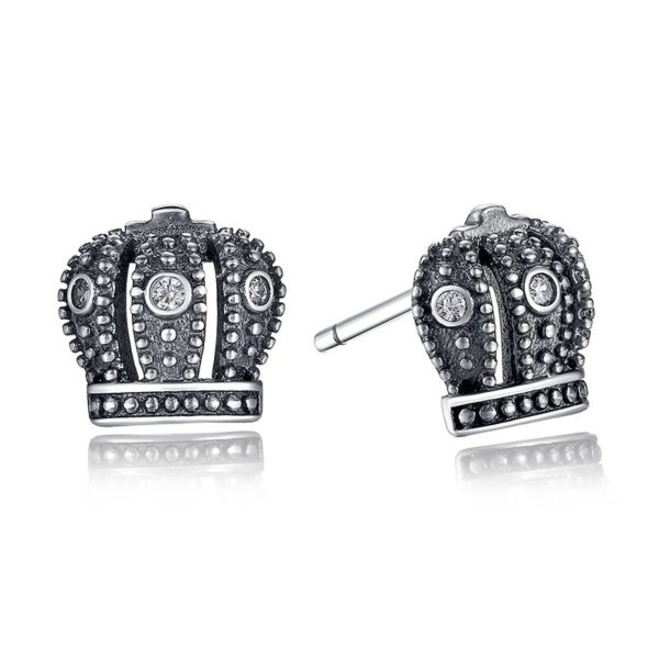 Cute crown earrings