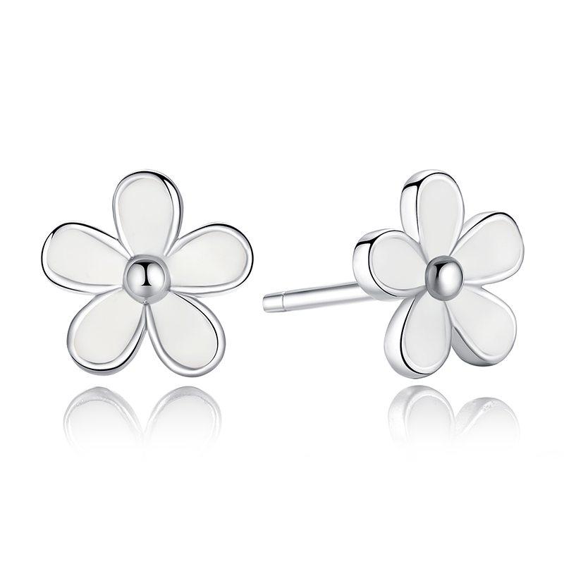 Summer flower silver earrings