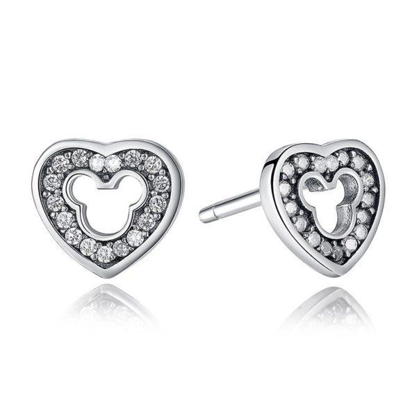 Beautiful 'Mickey Mouse' heart earrings