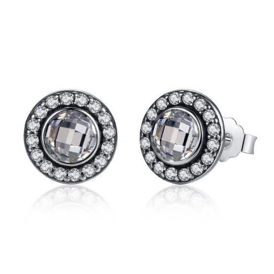 Sparkly round earrings