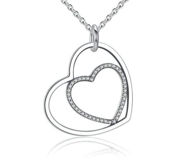 Precious dual heart necklace