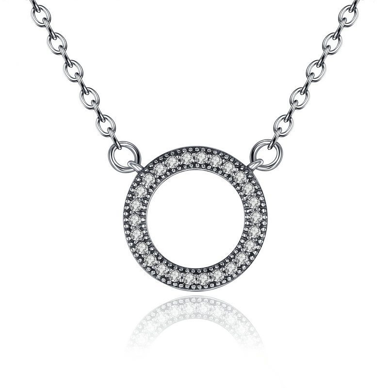 Cute rounded silver necklace