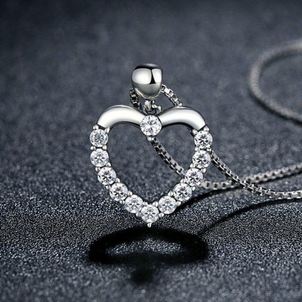 Gem encrusted heart necklace