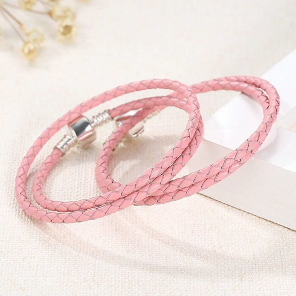 Beautiful pink plated silver bracelet