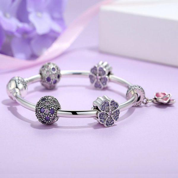 Delicate charmed bracelet set