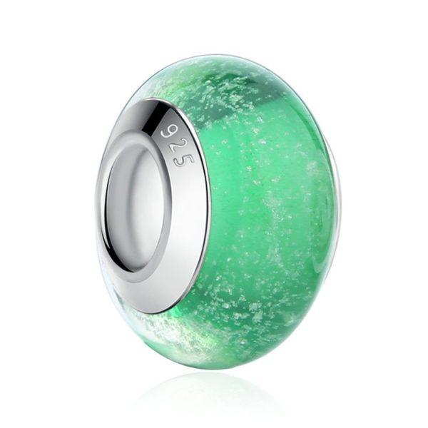 Green glittery charm