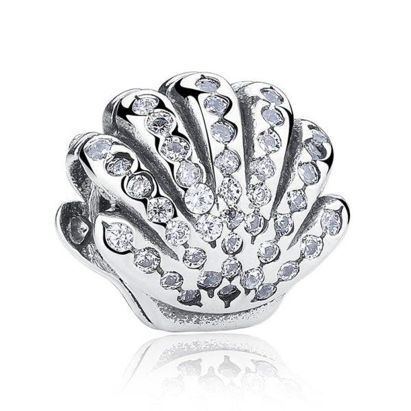Seashell gem encrusted charm