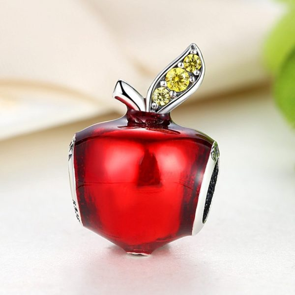 Apple gem encrusted charm