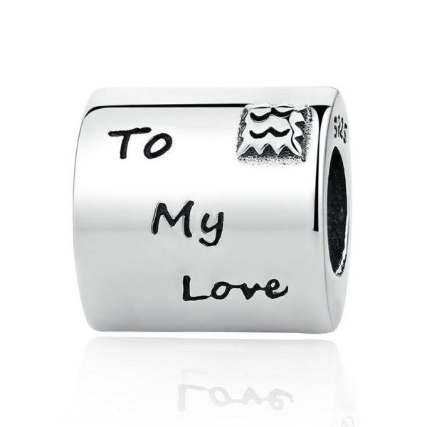 'To My Love' letter charm