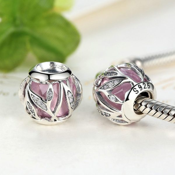 Unique pink designed charm