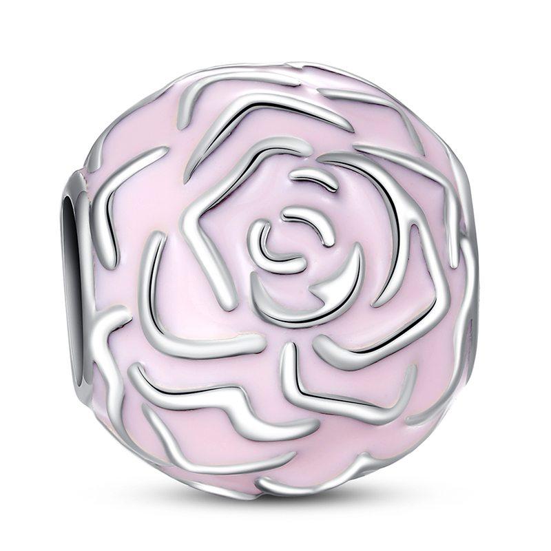 Pink rose charm